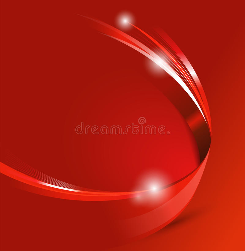 Fundo abstrato vermelho universal do vetor com efeito 3D ilustração stock