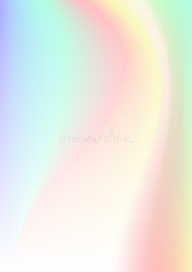 Fundo abstrato vertical com efeito holográfico Ilustração do vetor ilustração do vetor