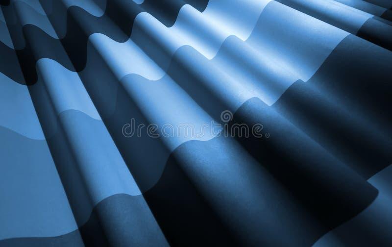 Fundo acenado monocromático azul abstrato da tela fotografia de stock royalty free