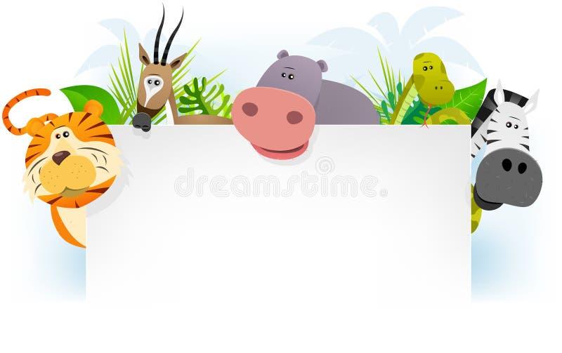 Fundo africano selvagem dos animais ilustração stock