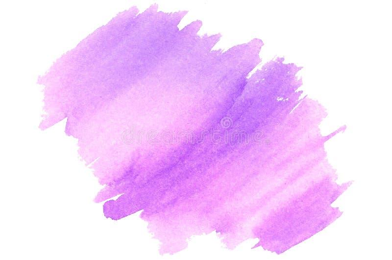 Fundo agradável do rosa da aquarela e o violeta ilustração do vetor