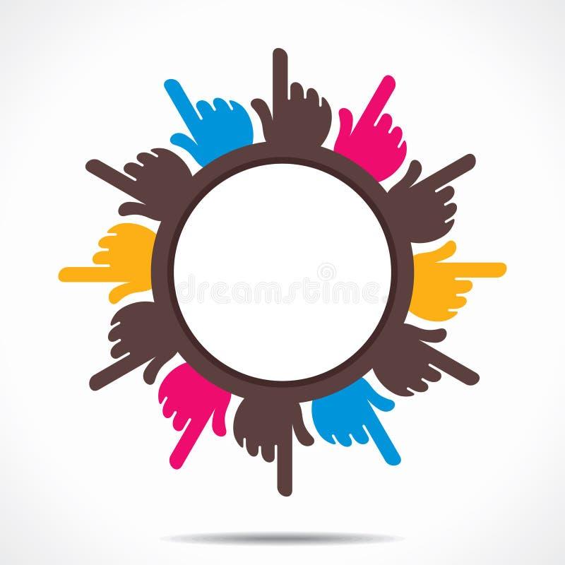 Fundo aguçado do projeto do dedo da mão redonda ilustração stock