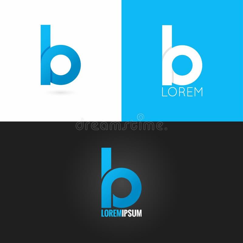 Fundo ajustado do ícone do projeto do logotipo da letra B ilustração royalty free
