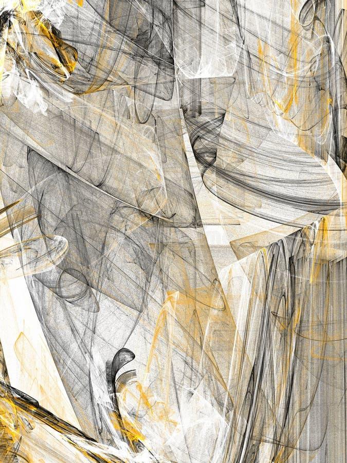 Fundo alaranjado abstrato do Grunge no contexto branco ilustração do vetor