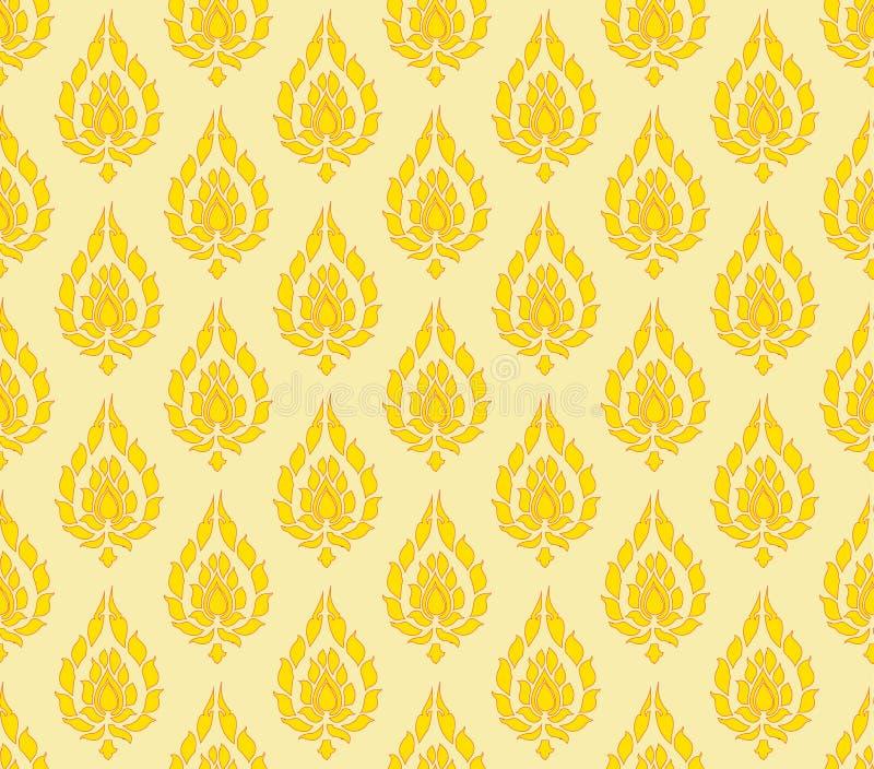 Fundo alaranjado amarelo do teste padrão de Tailândia foto de stock royalty free
