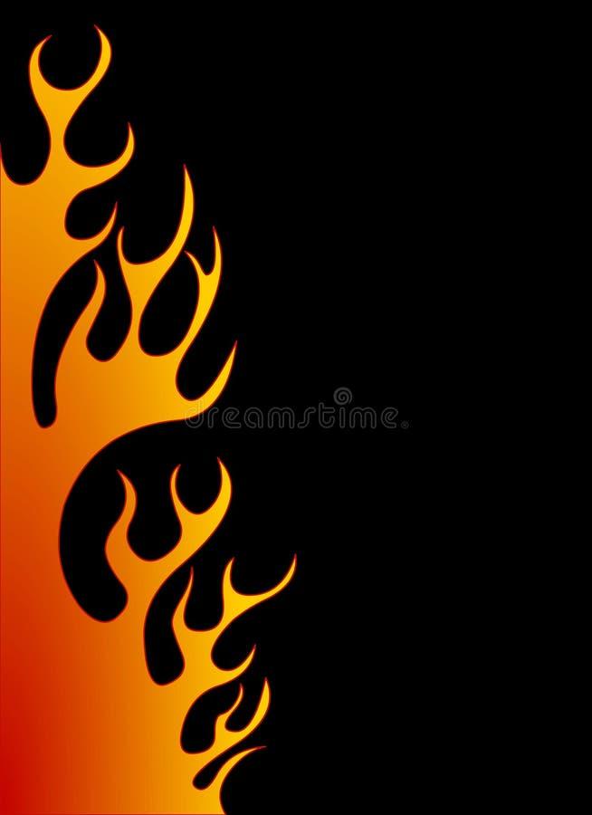 Fundo alaranjado da flama ilustração stock