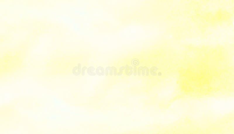 Fundo alaranjado do efeito da tinta e amarelo brilhante manchado da aquarela das máscaras da cor Elemento vívido da lona da textu fotos de stock