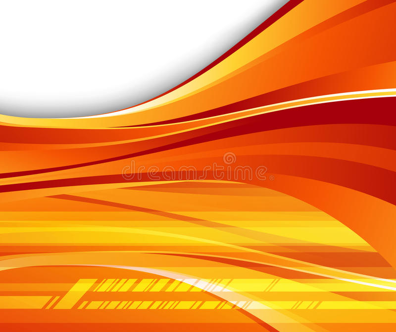 Fundo alaranjado futurista - velocidade ilustração stock