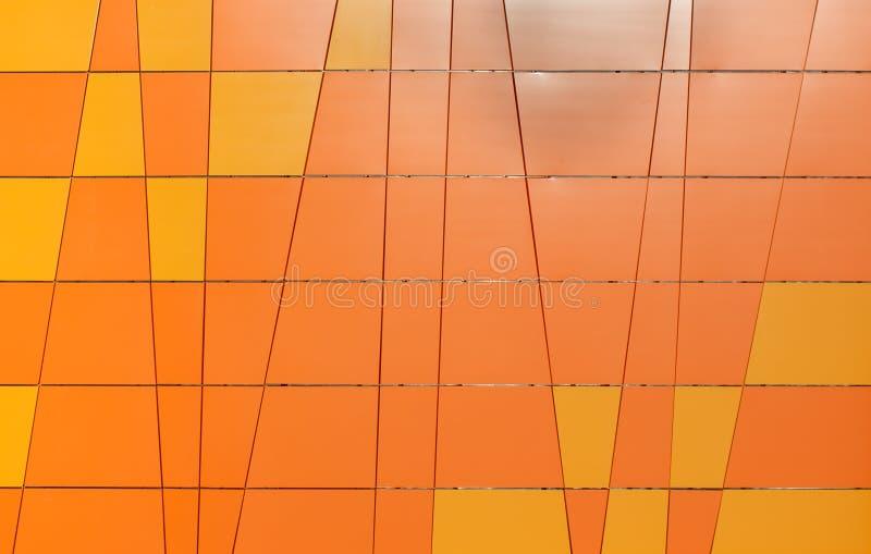 Fundo alaranjado geométrico imagem de stock royalty free