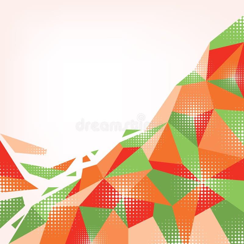 Fundo alaranjado-verde abstrato ilustração royalty free