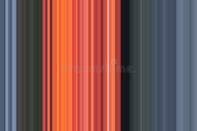 Fundo alaranjado, vermelho abstrato do fogo da chama Teste padrão sem emenda colorido das listras Fundo abstrato da ilustração Tr ilustração royalty free