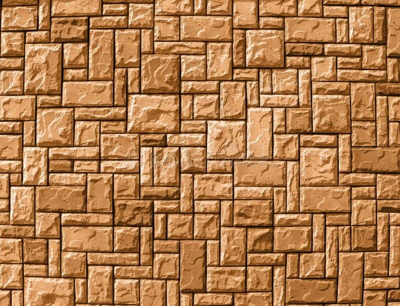 Fundo aleatório da parede de tijolo, construção amarela, imagem de stock royalty free