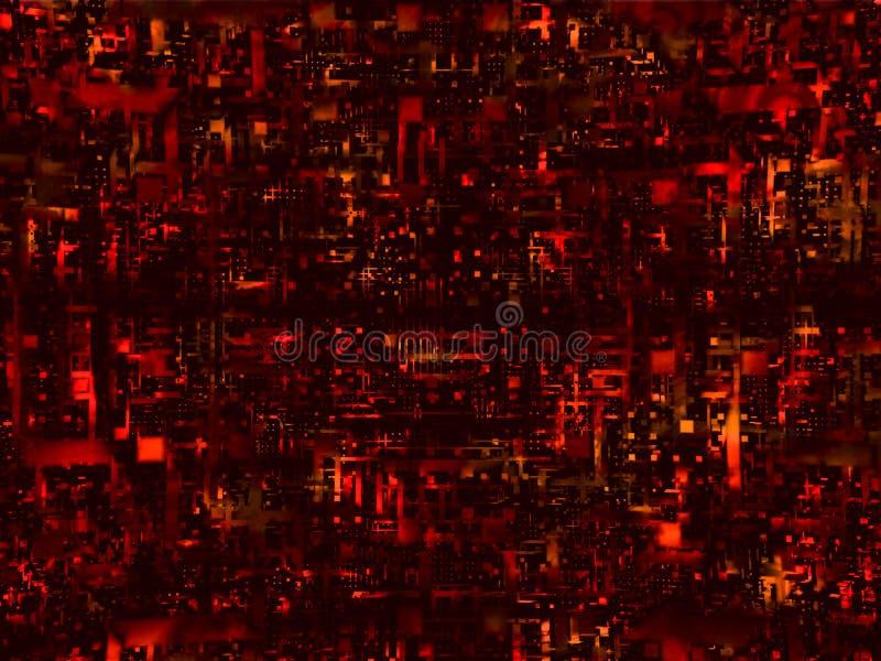 Fundo alta tecnologia vermelho ilustração do vetor
