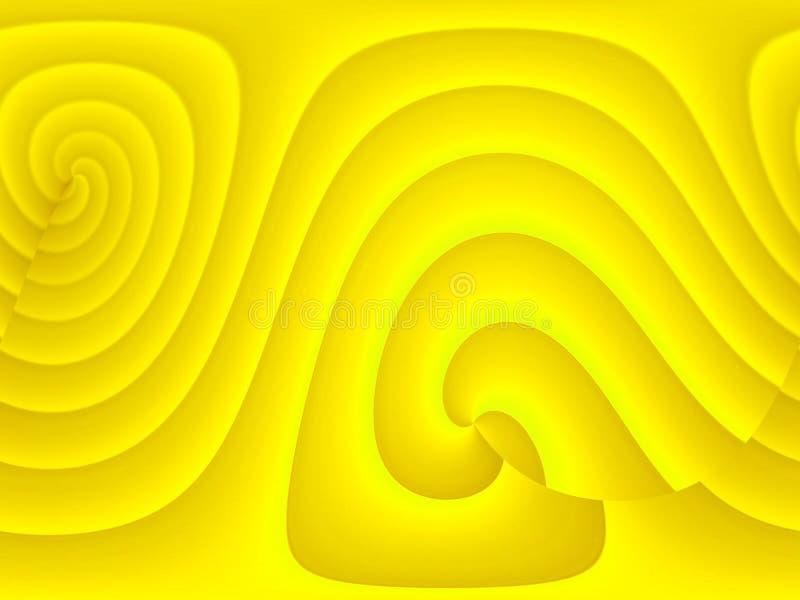 Fundo amarelo ilustração do vetor