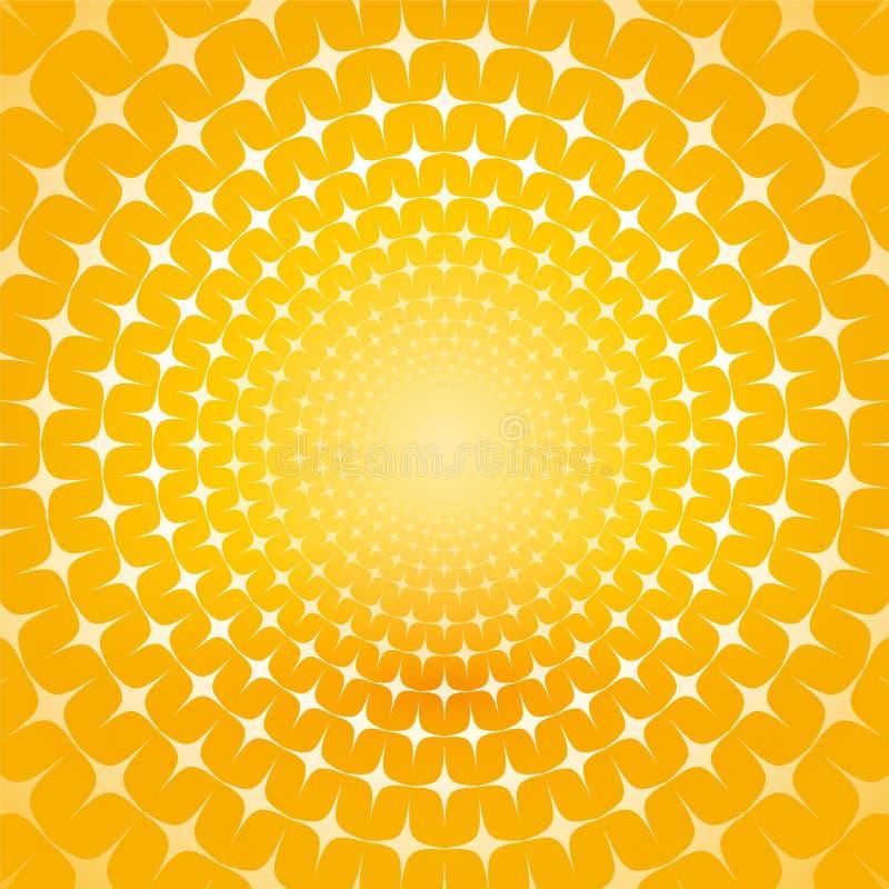 Fundo amarelo abstrato ilustração royalty free