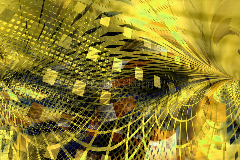 Fundo amarelo abstrato ilustração stock