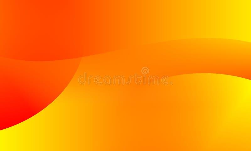 Fundo amarelo alaranjado brilhante das cores do sumário Ilustração do vetor ilustração do vetor