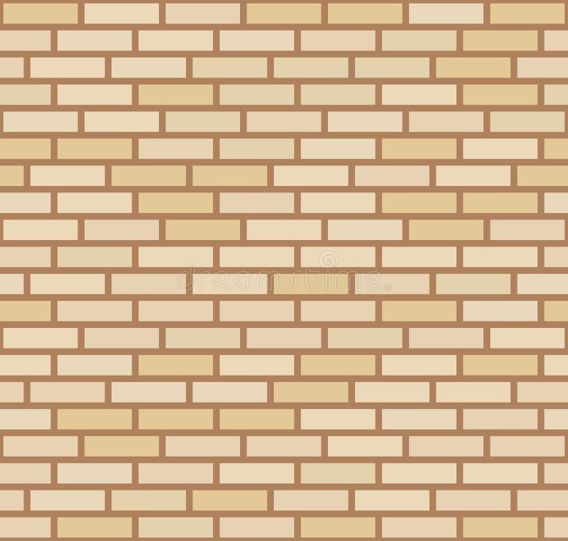 Fundo amarelo bege escuro da parede de tijolo do vetor Alvenaria urbana da textura velha Papel de parede do bloco da arquitetura  ilustração royalty free