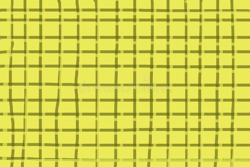 Fundo amarelo com linhas escuras, fundo quadriculado ilustração royalty free