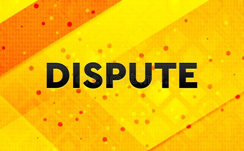 Fundo amarelo da bandeira digital abstrata da disputa ilustração royalty free