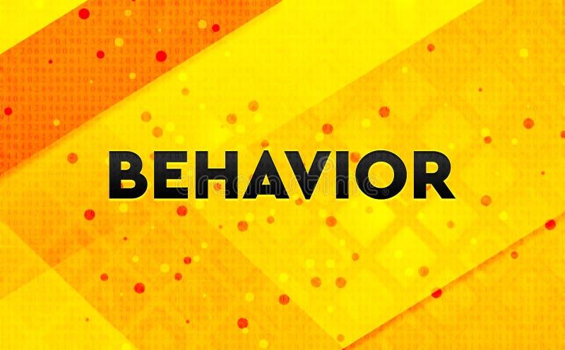 Fundo amarelo da bandeira digital abstrata do comportamento ilustração do vetor