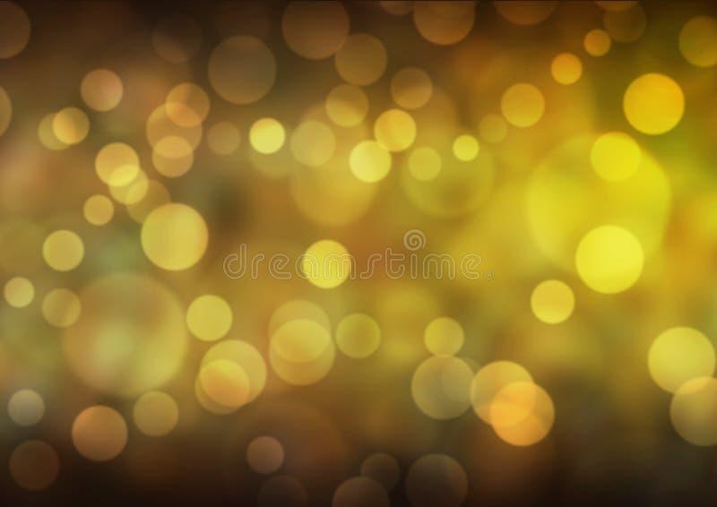 Fundo amarelo de Bokeh fotos de stock royalty free