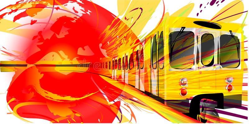 Fundo amarelo do metro ilustração stock