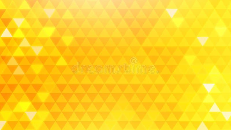 Fundo amarelo do triângulo fotos de stock