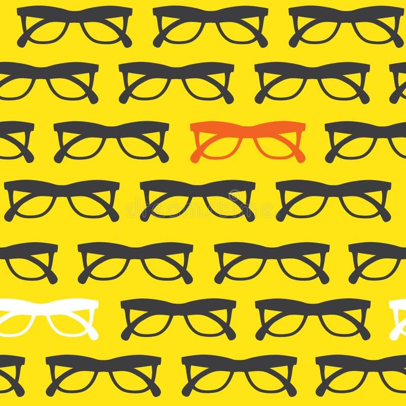 Fundo amarelo dos óculos de sol ilustração royalty free