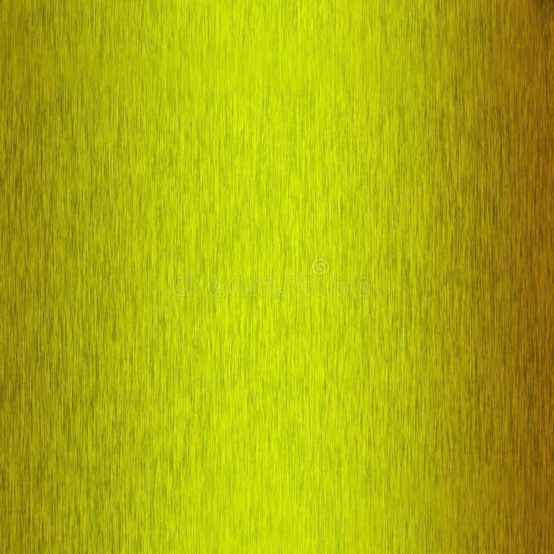Fundo amarelo metal escovado ilustração stock