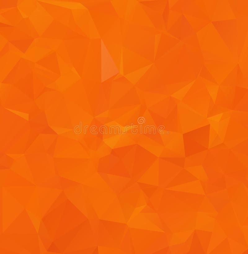 Fundo amarelo morno geométrico abstrato de polígono triangulares Ilustração do vetor Teste padrão na moda brilhante do triângulo  ilustração stock