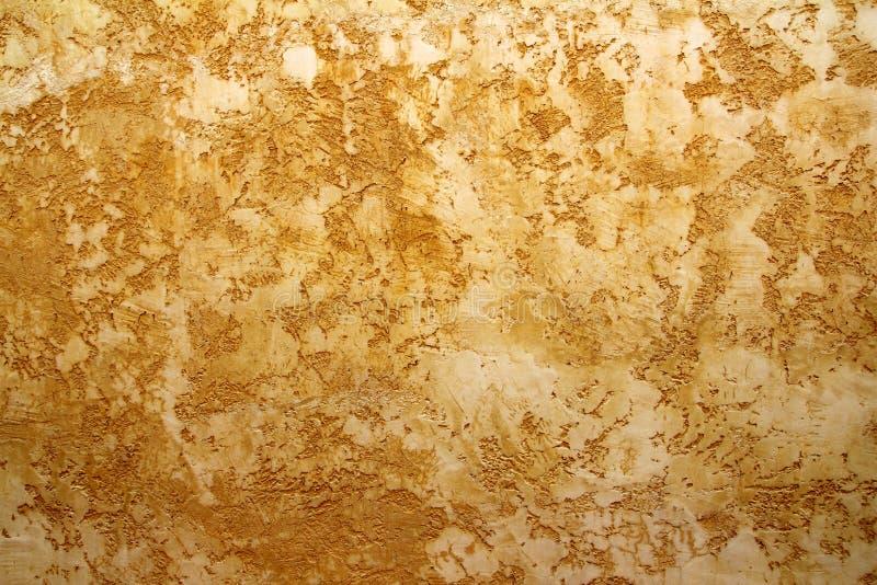 Fundo amarelo Ocher do grunge da textura da parede imagens de stock