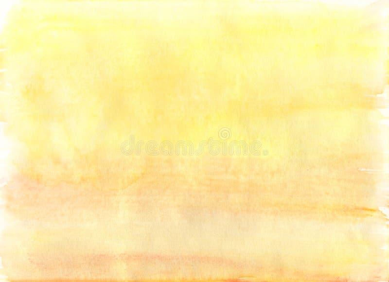 Fundo amarelo simples da aquarela ilustração do vetor