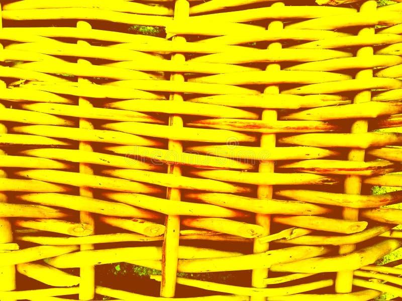 Fundo amarelo Textured dos galhos do withe fotografia de stock