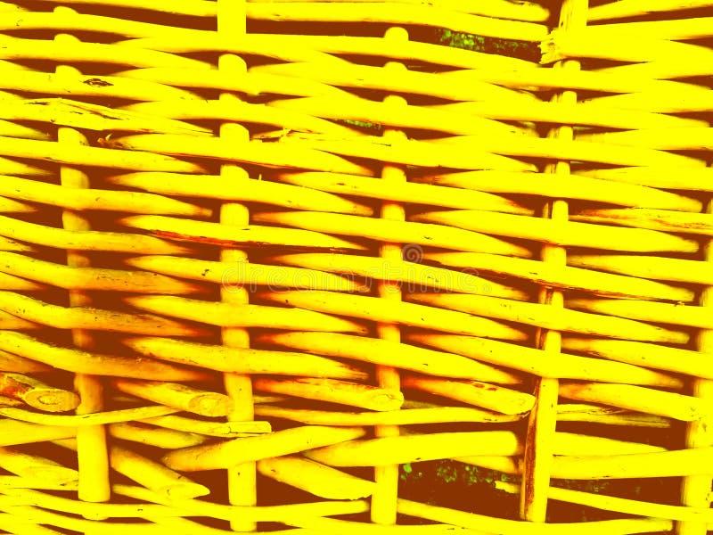 Fundo amarelo Textured dos galhos do withe fotografia de stock royalty free