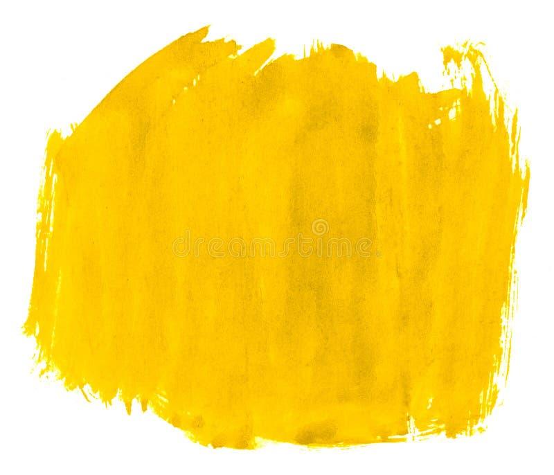 Fundo amarelo vibrante do sumário da aquarela, mancha, pintura do respingo, mancha, divórcio Pinturas do vintage para o projeto e ilustração royalty free