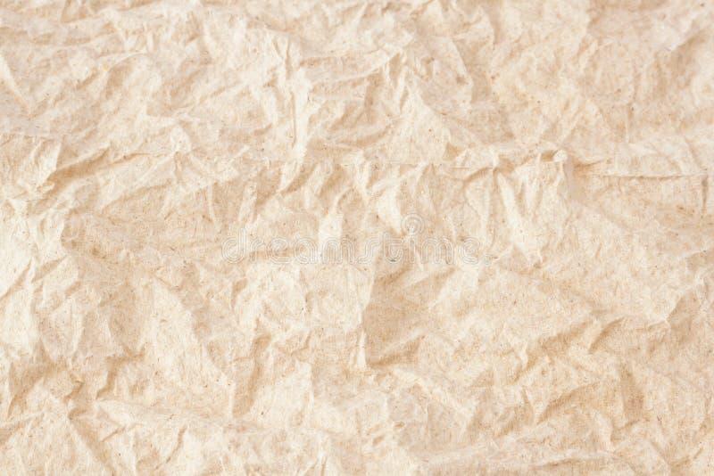 Fundo amarrotado da textura do lenço de papel foto de stock