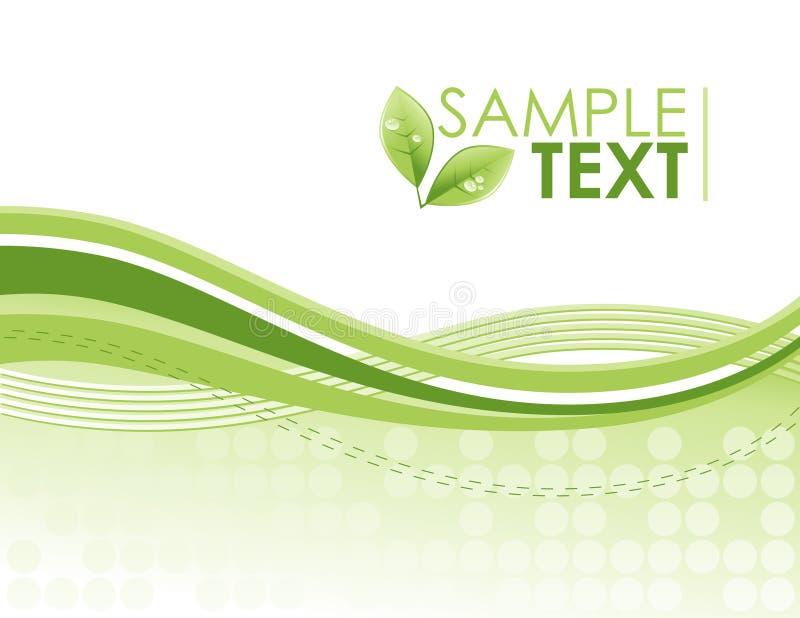 Fundo ambiental verde do teste padrão do redemoinho de Eco ilustração do vetor