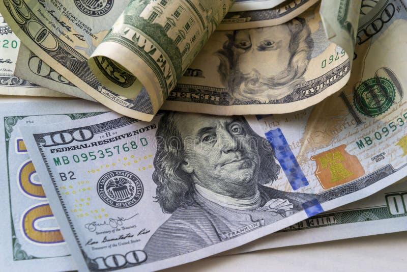 Fundo americano das cédulas do dólar do close-up fotos de stock royalty free
