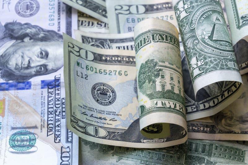 Fundo americano das cédulas do dólar do close-up fotografia de stock