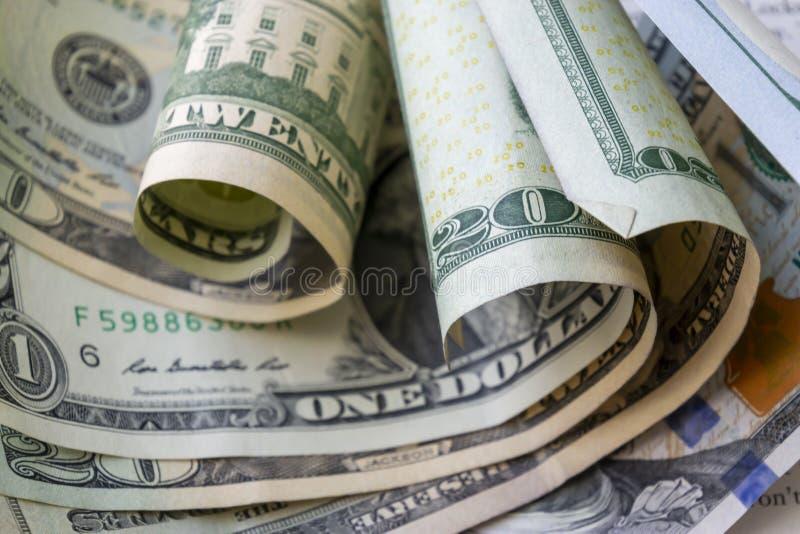 Fundo americano das cédulas do dólar do close-up fotografia de stock royalty free