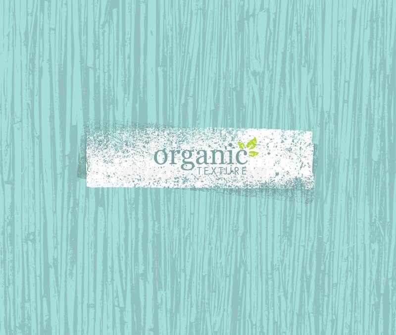 Fundo amigável do bambu de Eco da natureza orgânica Bio textura do vetor ilustração stock