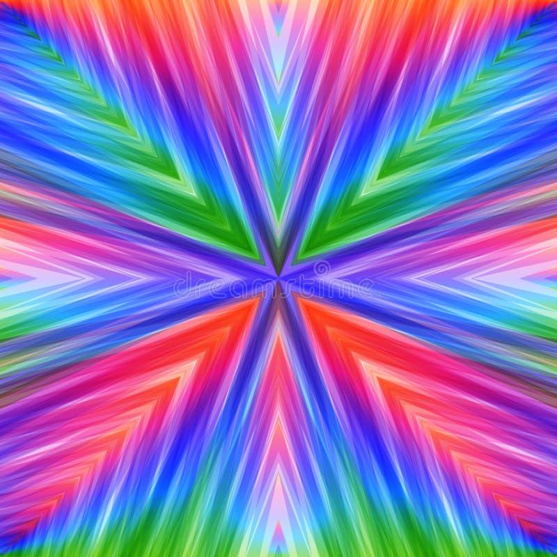 Fundo angular listrado colorido brilhante ilustração do vetor