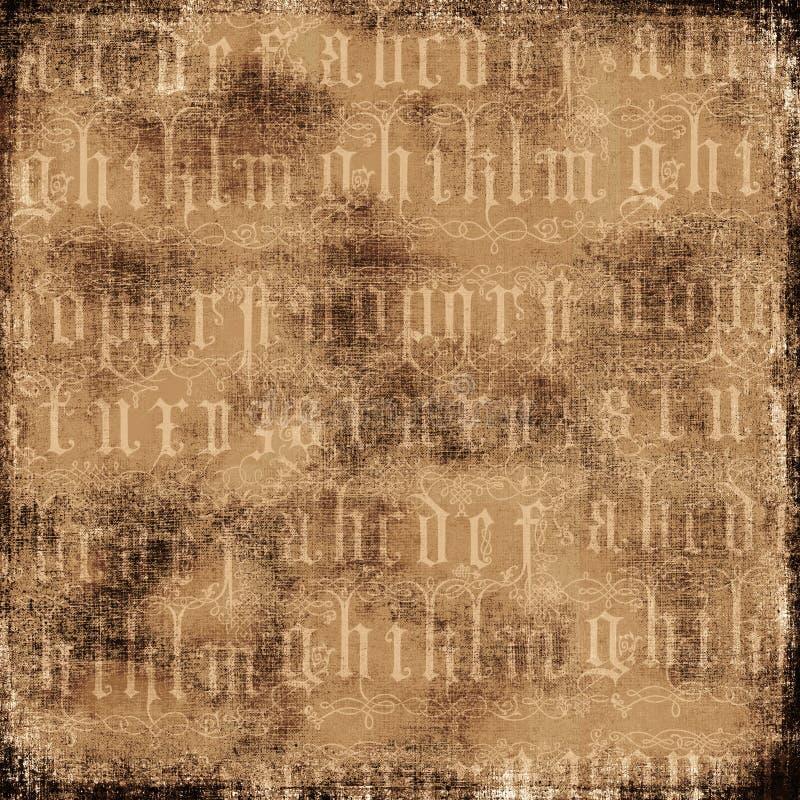 Fundo antigo do alfabeto ilustração royalty free