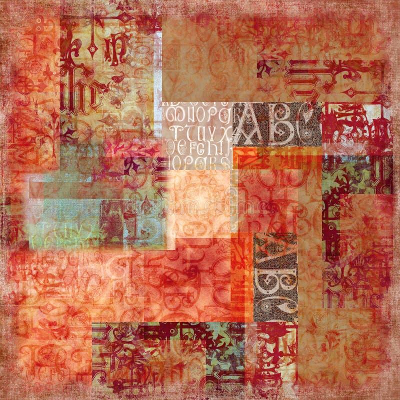 Fundo antigo do alfabeto foto de stock royalty free