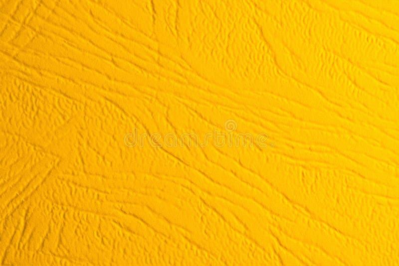 Fundo antigo do papel de parede do grunge da textura amarela com textura festiva abstrata As fibras amarelas formam um teste padr ilustração royalty free