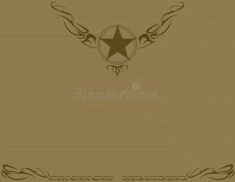 Fundo antiquado da estrela de Brown ilustração royalty free