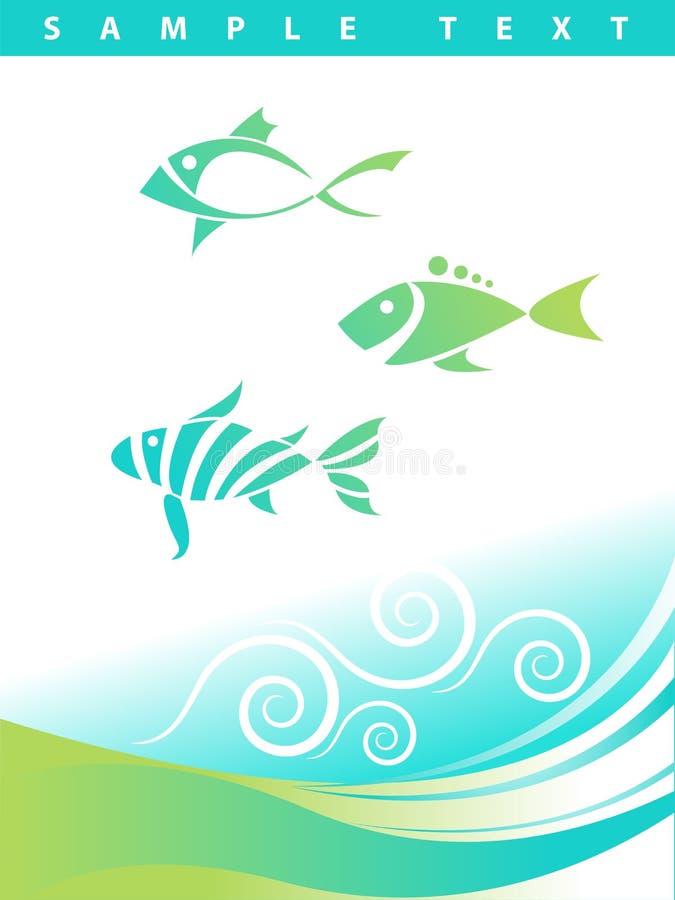 Fundo aquático abstrato azul ilustração royalty free