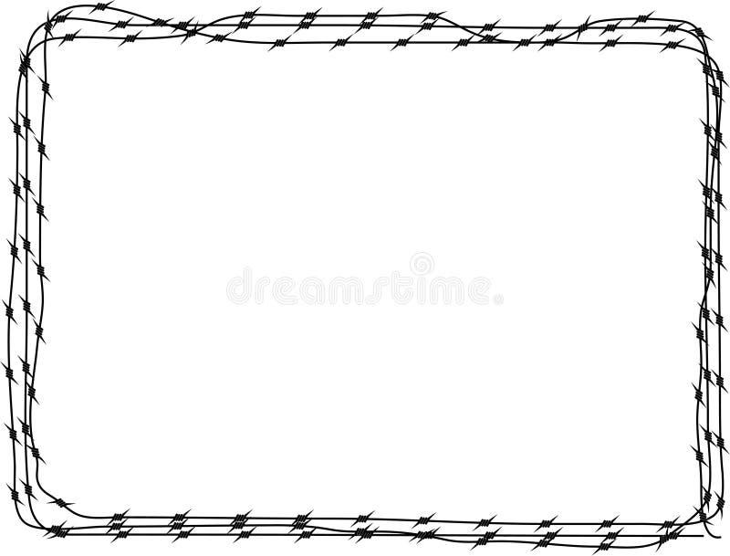 Fundo - arame farpado 3 ilustração stock
