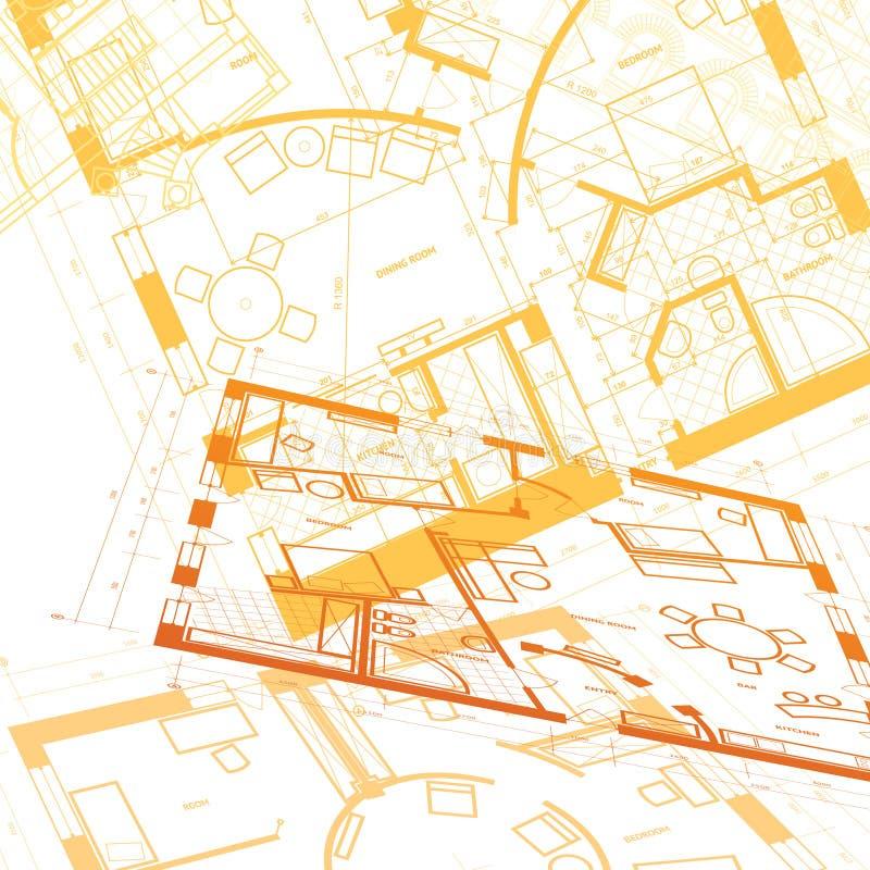 Fundo arquitectónico abstrato ilustração royalty free
